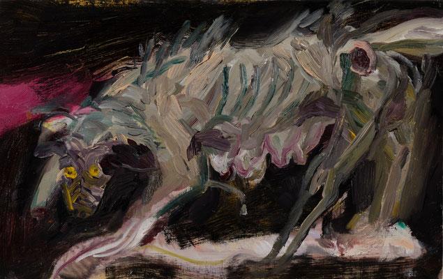"""犬/Study for """"Dog""""  Oil on Canvas 33.3 x 53 cm 撮影/齋藤 裕也 個人蔵"""