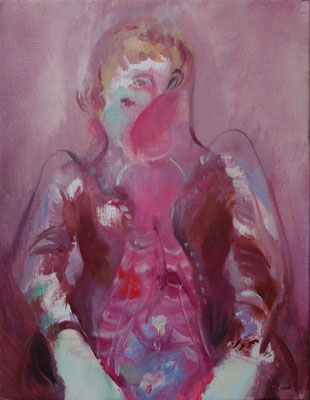 娼館の女/ Woman of the Brothel oil painting/2014/409×318(F6) 個人蔵