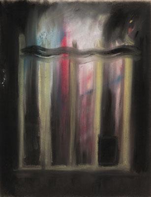 燃えている小さい家/Fiery Little House pastel on paper/2018 530×410(P10) 撮影/齋藤 裕也