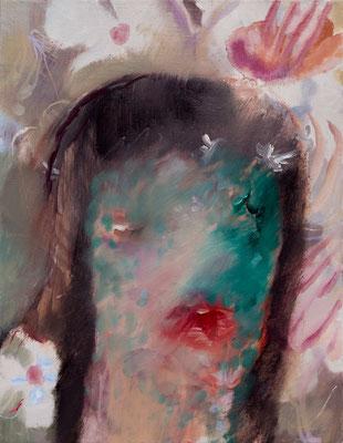 Oasis1 oil painting/2019/40.9×31.8(F6) 個人蔵 撮影/齋藤 裕也