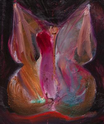性的な肉体について2/About Sexual Flesh2   oil painting/2017 455×380(F8) 撮影/齋藤 裕也
