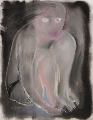 抱擁に至るまで/Until the Hug pastel on paper/2018 53.0×41.0(P10) 撮影/齋藤 裕也 個人蔵