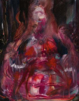 馬付きのドレス/Dress with Horse oil painting/2014/41×31.8(F6) 撮影/齋藤 裕也 作家蔵