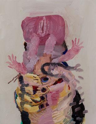 私、私たち、大きな手 Oil Painting 41 x 31.8 cm 撮影/齋藤 裕也