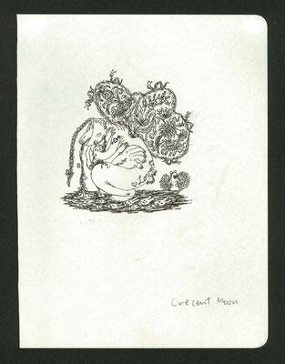 Crescent Moon Head  pen/2018 297×210