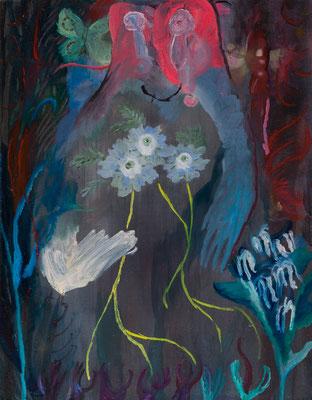 冠を捨てて/ Discard the Crown oil painting/2018/40.9×31.8(F6) 撮影/齋藤 裕也