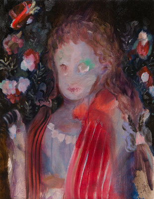 エステ家の公女/Portrait of a Princess of the House of Este oil painting/2014/40.9×31.8(F6) 撮影/齋藤 裕也