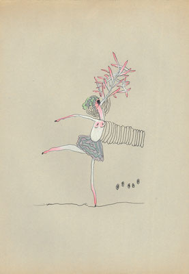 dance2 pen 2000-2004/ 25×17.2  作家蔵