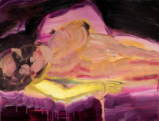 拘束された黄色/Tied Yellow oil painting/2016/65.2×50.0(P15) 撮影/齋藤 裕也