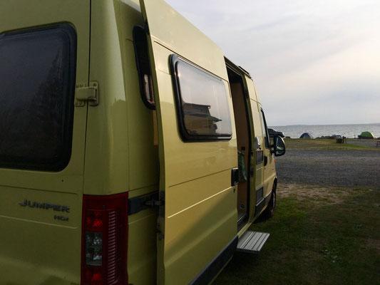King Neptune Campground – campen direkt am Meer.