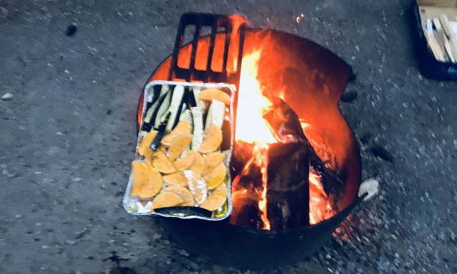 Grillgemüse vom offenen Feuer