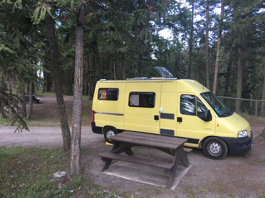 "Ein Wald-Campground mitten in der Stadt. Toll! Oder – wie es der Parkwächter ausdrückte – : ""You think you're in the woods. But you're not!"""