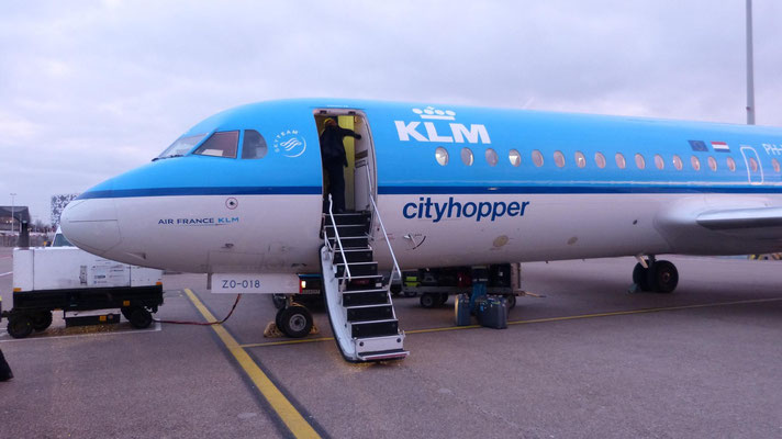 Im Cityhopper von Hannover nach Amsterdam