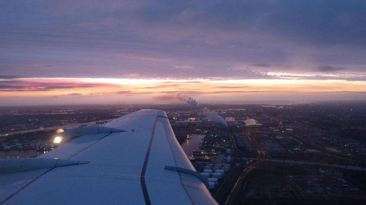 Sonnenaufgang über Amsterdam
