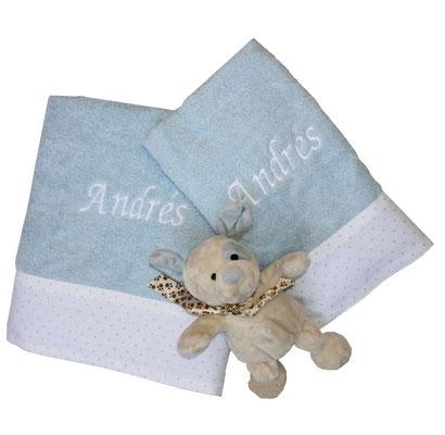 Juego de toallas azul