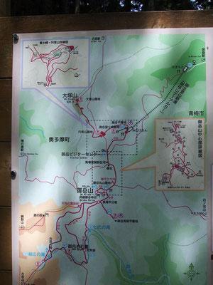 分岐点付近の案内図