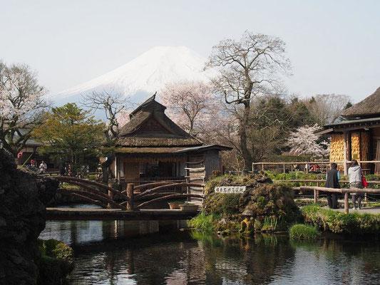 富士山が霞んで見える