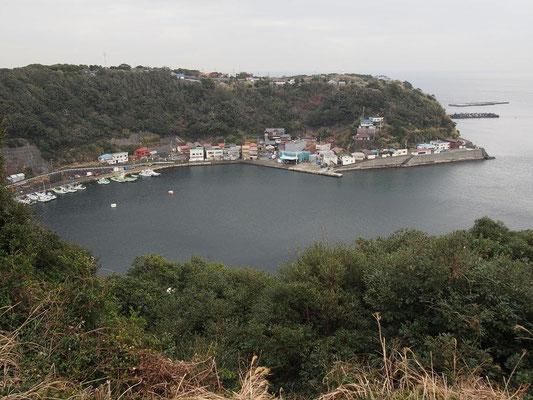 波浮港(見晴台から)
