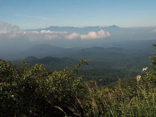 八ヶ岳・南アルプスも見えたが富士山は雲の中