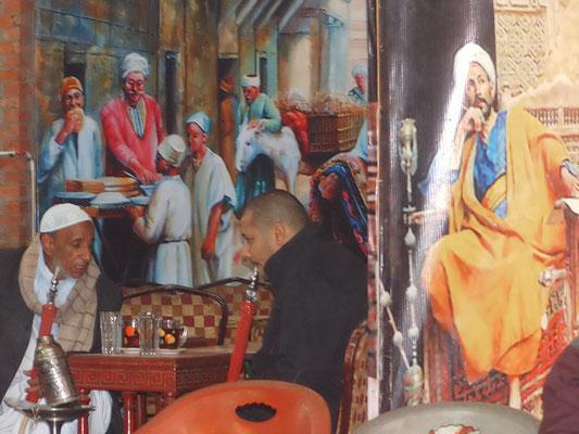 Kaffee im Basar Chan el Chalili.