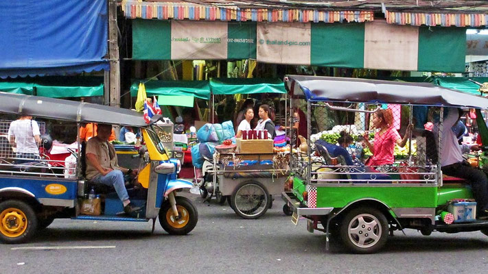 Tuk Tuks - China Town Bangkok - December 2015
