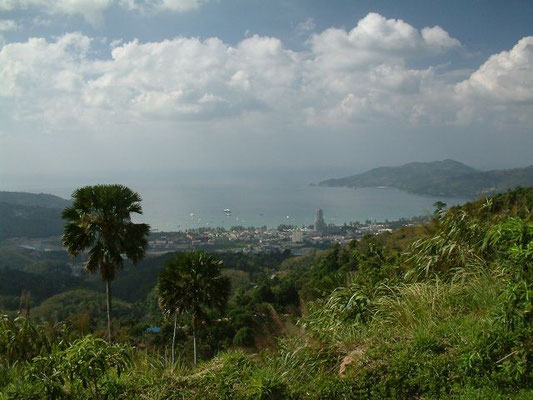 Phuket - Patong  - View from the hill behind