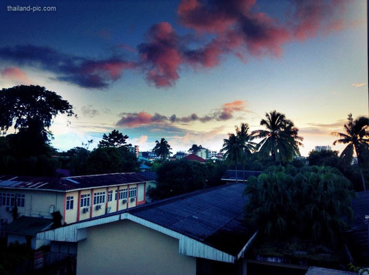 Sunset At The Sky View Hotel - Yangon - Myanmar