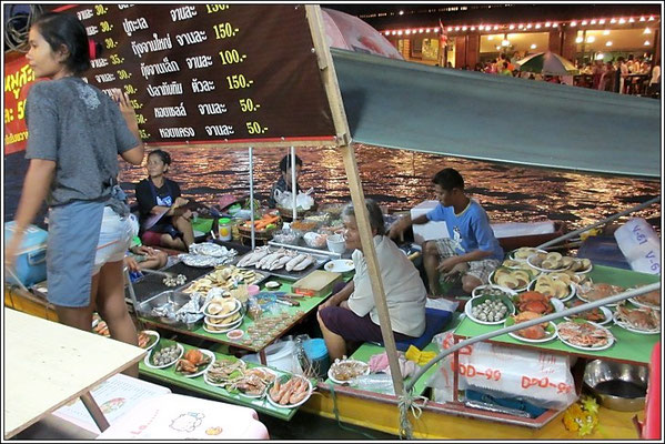 Foodstalls On The Boat - Bangnoi Floating Market - Amphawa