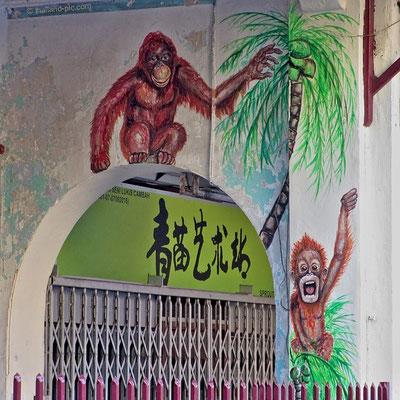 Street Art At George Town - Old Quarter - Penang - Malaysia - January 2016