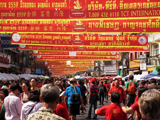 Yaowarat Rd. - Chinese New Year 2016 - China Town - Bangkok