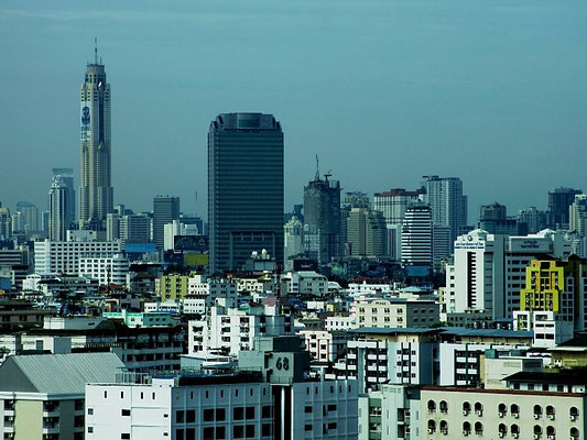 City Skyline With Baiyoke Tower - View from Ratchada-Sutthisan