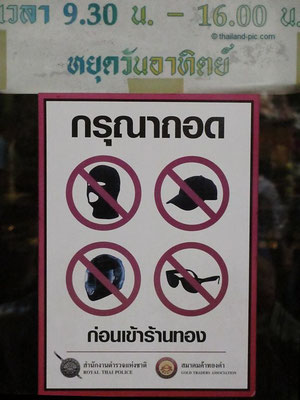 Sign At The Oldest Gold Shop In Bangkok  - - China Town - December 2015