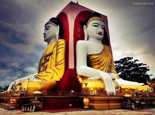 Kyaung Pun Four Figures Pagoda -Bago - Myanmar