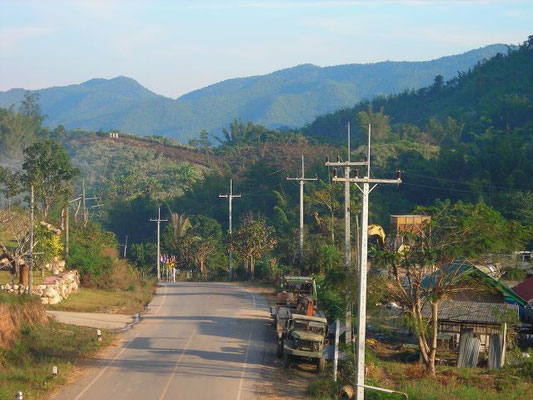 Suan Phueng District near the Burma border