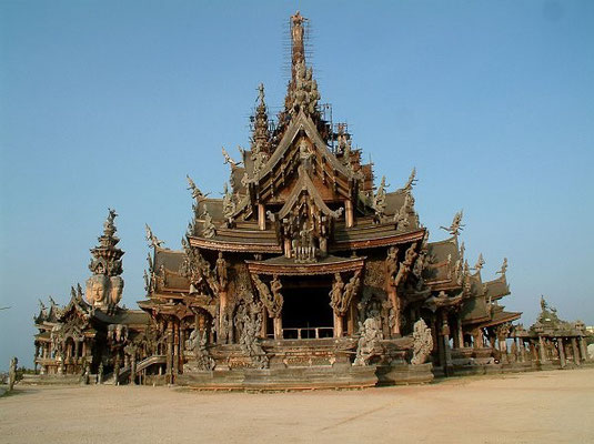 """Sanctuary Of Truth"" A Collosal Wooden Building In Pattaya"