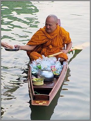 Monk On The River - Kanchanaburi