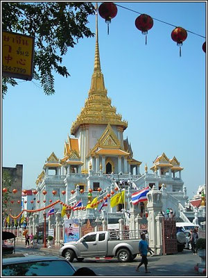 Wat Traimit - The Home Of The Golden Buddha - China Town Bangkok