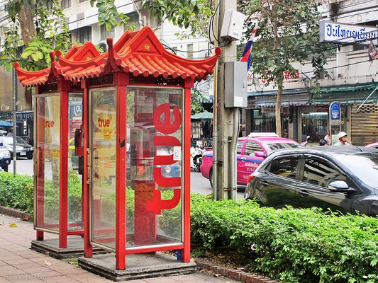 Chinese Style Phone Boxes - China Town - Bangkok