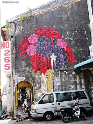Street Art At George Town - Old Quarter - Penang - Malaysia - January 2015