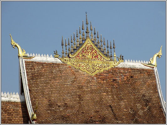 Luang Prabang -  Roof of theTemple at the old palace