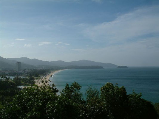 Phuket - Karon Beach - View from the road to Patong