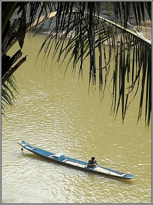 Luang Prabang - Fishing on the river