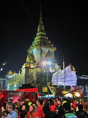 Chinese New Year 2018 - Final Parade - Wat Traimit At Night