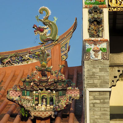 Detail Chinese Temple - Old Quarter - George Town - Penang - Malaysia - January 2016