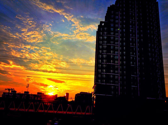 Sunset At Centric Building - Sutthisan Junction - Bangkok