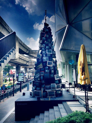 A christmas tree at Siam Discovery - Pathumwan Bangkok