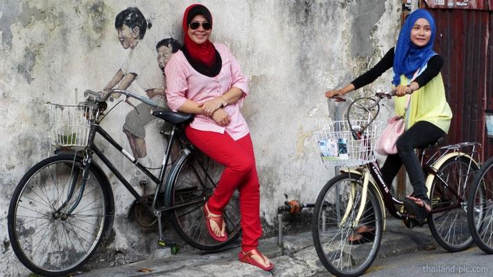 Street Art At George Town - Old Quarter - Penang - Malaysia - January 2015