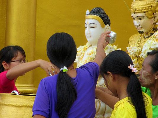 At The Swedagon Pagoda - Yangon - Myanmar