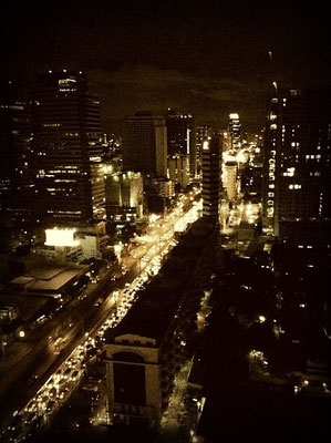 Ratchadapisek Road from the 27th floor at night - Bangkok
