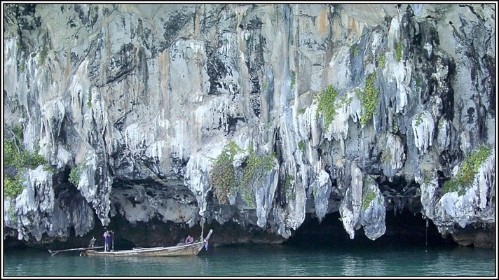 Phang Nga Bay - Fisherman Take A Rest In The Shadow